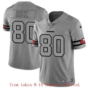 49ers #80 Jerry Rice Jersey Grey